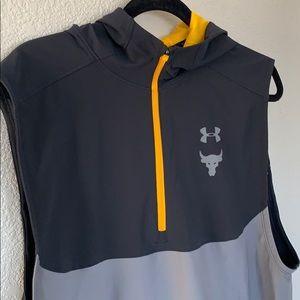 Men's Rock collection UA sleeveless hoodie